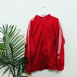 Vintage Adidas Logo Windbreaker W/ Pull Out Hood